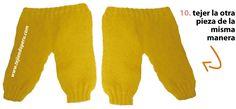 Pantalón para bebe - Tejiendo Perú Baby Pants, Lana, Sweatpants, Fashion, Stitches, Crochet Baby Clothes, Crochet Bedspread, Knitted Baby, Moda