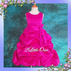 hot pink brides maid dresses for girls | Hot Pink Wedding Flower Girls Pageant Party Dress 12 13 | eBay