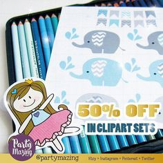 Cute Elephants? Hurry all my cute cliparts are 50% off in the shop this weekend! Don't miss it #etsyshop #clipartset #etsysale #graphicdesign #kawaii #kawaiiplanner #plannercliparts #plannergirl #plannerjunkie