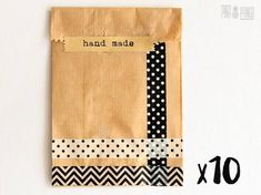 Kraft paper bags | Kraft paper envelopes | Party favour bags with washi tape and stickers | Hand made | 10 pieces | 17x10x5cm | 6.5x4x2''