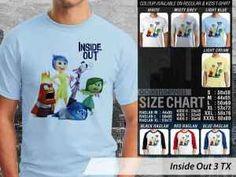 Kaos Film Inside Out, Kaos Anime Inside out Anak-anak, Kaos Inside Out Couple Family