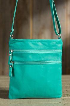 Trinity II Calfskin Leather Crossbody Handbag