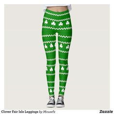 Clover Fair Isle Leggings by MouseFxArt.Com (Mousefx Art Zazzle Store)