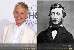 Ellen DeGeneres | Henry David Thoreau Henry David Thoreau, Ellen Degeneres, Den, Time Travel, Celebrities, Figurine