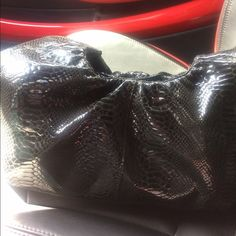 Just InPerlina  leather hobo bag Luxurious Perlina black patent leather hobo bag, tag off for photo -plastic still on,oversize middle mAkeup compartment, zipper inside picket, magnetic closure, NWT, oversize is just the right size, from Nordstrom Perlina Bags Hobos