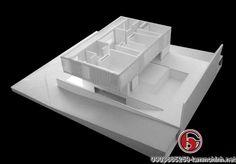 Mô hình kiến trúc bằng foam board trong giai đoạn trình bày, phê bình kiến trúc