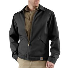 Blended Twill Work Jacket - The Brown Duck