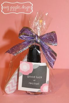 Amy Giggles Designs: Nail Polish Dance Recital Gifts A cute idea for the girls in Paislee's class!