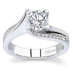 Barkev's Designer 14k White Gold 1 1/6ct TDW Diamond Ring (F-G, SI1-SI2) (size 8.50), Women's, Size: 8.5