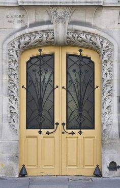 mellow yellow A bright yellow door can be intimidating. We know. In lieu of the flashy alternative, opt for something in a more low-key finish. This muted shade will enhance just about any entry, extending a refreshing and welcoming effect.  Recreate this look with... Lantern Light by Sherwin Williams