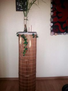 before recycling: jalousette of bamboo- now: a good view for the (baby-) palm