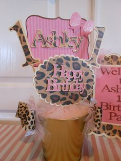 1st Birthday DIY Leopard Party Package