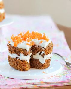 """A """"single serving"""" carrot cake that can be made in your microwave and is just 140 calories for the entire recipe. It can't get much better than this! ~"""