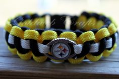 My Paracord Creations:    Pittsburg Steelers bracelet with charm