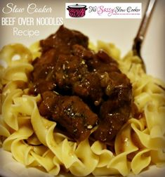 Hot and hearty meal for the family, Slow Cooker Beef Noodles Recipe. It's super easy to make and SO delicious.