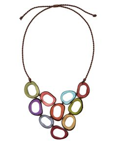 TAGUA BIB NECKLACE | Colorful Necklace, Fair Trade, Jewelry, Colombian Artisans, Women Workshop, Eco-Friendly Accessories | UncommonGoods