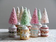 bottlebrush tree - vintage modern christmas kitsch. $15,00, via Etsy.