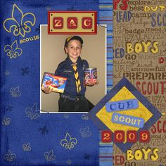 Boy Scout Scrapbook Page Layouts | : About A Scout – Boy Mini Kit | Digital Scrapbooking, Scrapbook ...