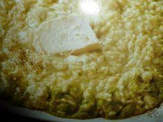 un mondo di ricette: risotto mantecato con la crema di porro