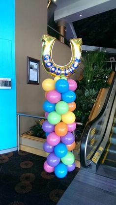 Melboure cup balloon column