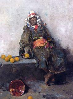 JOAQUÍN SOROLLA: Moro con naranjas