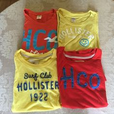 Small Hollister Tshirt bundle All small and from Hollister Hollister Tops Tees - Short Sleeve