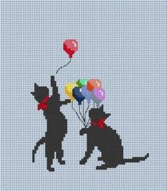 Leave off the balloons and bows for some non-cheesy kitties.