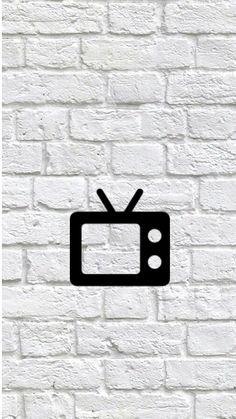 TV Instagram Logo, Instagram Story, White Bricks, Tv Icon, Instagram Background, Sky Aesthetic, Instagram Highlight Icons, Story Highlights, Insta Story