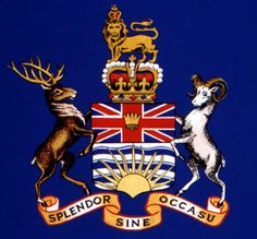 "British Columbia's motto is chalk full of symbolism and Latin.  This coat of arms has been a work in progress with King Edward VII proposing the coat of arms in 1906, however, Queen Elizabeth granted the final touches in 1987.  Splendor sine occasu are not just three words but a sentence meaning, ""Splendor without diminishment."""