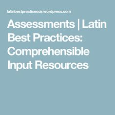 47 best hs latin images on pinterest high school high schools assessments latin best practices comprehensible input resources fandeluxe Gallery