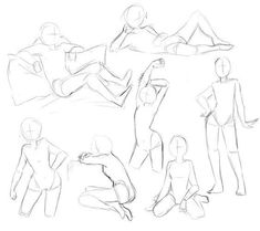 Learn To Draw People - The Female Body - Drawing On Demand Female poses references poses female Female Pose Reference, Body Reference Drawing, Drawing Reference Poses, Hand Reference, Injured Pose Reference, Anatomy Reference, Drawing Body Poses, Drawing Couple Poses, Gesture Drawing