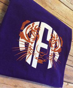 Clemson Tiger Monogram Shirt by SweetandSassyCrafts on Etsy