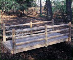 Log Rail Bridge from Walpole Woodworkers, I need this!
