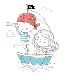 Find Pirate Boy Girl Boat Sea stock images in HD and millions of other royalty-free stock photos, illustrations and vectors in the Shutterstock collection. Pirate Cartoon, Boat Cartoon, Cartoon Boy, Couple Cartoon, Couple Illustration, Pencil Illustration, Graphic Illustration, Illustrations, Cartoon Tattoos