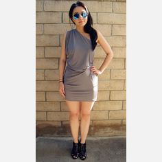 Fala Chien: Maggie Dress Gray, at 42% off!