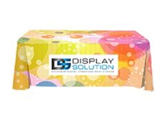 Trade Show Table Covers Starting @ CAD $95 with Full Color Graphics. Available in Many Shapes, Sizes and Colors. Quick Turnaround Time.