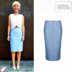 Beat the style blues with a pastel coloured leather pencil skirt | Today I'm Wearing …