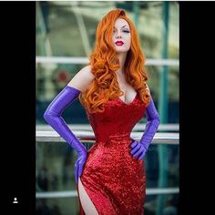 Pin for Later: 17 Sparkly Halloween Costumes For the Shiniest Girl in the Room Jessica Rabbit