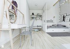 Sypialnia w stylu skandynawskim - widok na toaletkę. - zdjęcie od NEFA…