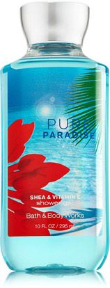Bath and Body Works Pure Paradise Shea & Vitamin E Shower Gel Full Size New 1 Shower Gel Fragrance Notes: Sparkling blend of juicy star fruit, dewy frangipani blossom and water lily drenched with sunkissed coconut and white musk. Vitamin E, Body Works, It Works, Body Cleanser, Bath And Bodyworks, Beauty Packaging, New Fragrances, Body Spray, Smell Good
