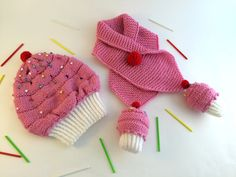 baby hat.baby scarf.knitted baby hat,knitted baby scarf,cupcake hat,cupcake hat handmade by Minnoshko on Etsy