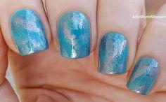 #Turquoise #Sponge #Nailart / https://www.youtube.com/user/LifeWorldWomen
