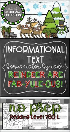 Holiday Close Reading Reindeer Informational Text Color By Code Fun Holiday Activity No Prep Lesson Plan Classroom Fun Easy Printable Elementary Middle School Christmas text Reindeer Close Reading Color By Code Holiday Classroom Fun No Prep Holiday Activities, Reading Activities, Reading Resources, Classroom Fun, Classroom Activities, Christmas Speech Therapy, Close Reading Lessons, 6th Grade Reading, Holiday Fun