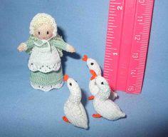 Little Goose Girl, made by Jill Rothwell .