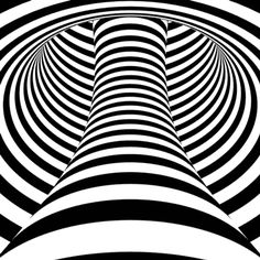 """GIF: """"ASOMBROSAS ILUSIONES..."""" COLLECTION GIF #4 (of the 4 B&W GIFs in this collection).        (""""Asombrosas ilusiones opticas - Ilusiones 3. Engaños visuales."""" ilusiones opticas"""