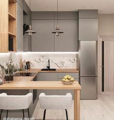 Kitchen Room Design, Kitchen Cabinet Design, Modern Kitchen Design, Home Decor Kitchen, Interior Design Kitchen, Home Kitchens, Kitchen Ideas, Farmhouse Kitchens, Modern Farmhouse