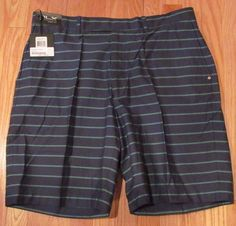 RLX Ralph Lauren Men's Golf Shorts, W38, Navy, Green Stripes, 100% Cotton, NWT #RalphLaurenRLX