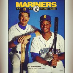 Edgar and Junior, 1990 #Mariners Magazine. #ThrowbackThursday
