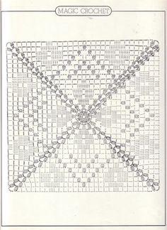Magic Crochet nº 17 - leila tkd - Picasa Web AlbümleriThis Pin was discovered by est Motifs Granny Square, Crochet Motifs, Granny Square Crochet Pattern, Crochet Blocks, Crochet Diagram, Crochet Chart, Crochet Squares, Filet Crochet, Crochet Doilies