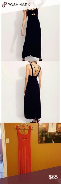 """Free People Hypnotized Maxi Dress Beautiful burnt orange maxi dress.  95% acetate and 5% spandex.  54 1/2"""" long.  Lined.  Stretchy.  Brand new! Free People Dresses Maxi"""